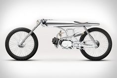 Bandit9 Eve Motorcycle - Outfitted in nearly all chrome — pretty much everything but the tires, grips, and seat — this sleek ride is based on a 1967 Honda SS, can be built with engines ranging from 90-125cc, and is absolutely guaranteed to draw as much attention as any bike you've ever ridden. | via Uncrate