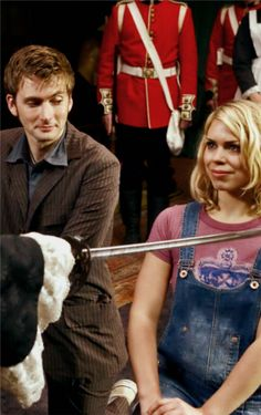 Ten and Rose. DO YOU SEE THE WAY HE'S LOOKING AT HER IM CRYING