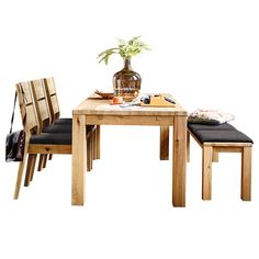 Savannah - Table, Dining Chairs & Bench with seat pads Bench Seat Pads, Chair Bench, Dining Room Furniture, Dining Chairs, Dining Table With Bench, House Design, Savannah, Home Decor, Ranges