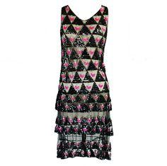1920s Pink Bead & Sequin Netting Flapper