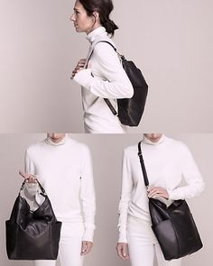 Le Château: Leather Convertible Back Pack