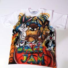 Airbrush Bugs Bunny space Jam T shirt by TheAmazingAirbrush, $39.95