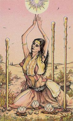 Three of Wands - Cosmic Tarot by Norbert Losche