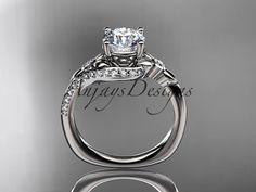 7 ct Brillant Rond gorgeousdiamond Tressée Bague de fiançailles 14K whitegold Finition