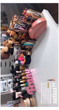Diy Makeup Organizer, Makeup Storage Organization, Organization Ideas, Makeup Room Decor, Makeup Rooms, Ikea Makeup, Rangement Makeup, Make Up Collection, Makeup Collection Storage
