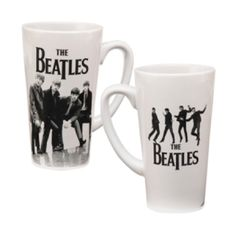 The Beatles 14 oz. Ceramic Latte Mug - Enjoy two playful shots of The Beatles just as they were starting out pictured on The Beatles 14 oz. Ceramic Latte Mug. Drink up!