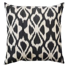This black and white bohemian pillow will add a graphic pop to your couch.