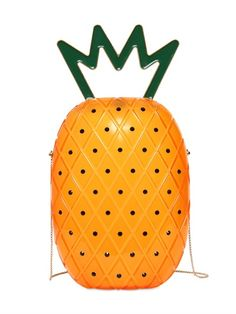 CHARLOTTE OLYMPIA - ANA PINEAPPLE SHAPED PERSPEX BAG - LUISAVIAROMA - LUXURY SHOPPING WORLDWIDE SHIPPING - FLORENCE