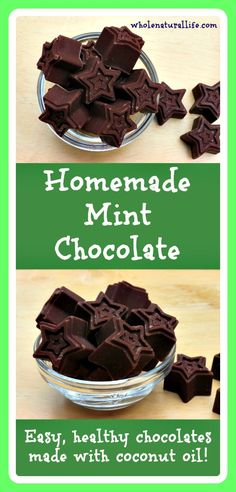 Homemade Mint Chocolate: Easy, healthy chocolates made with coconut oil!