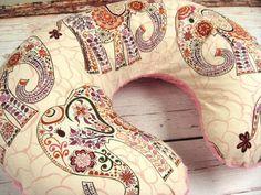 Bohemian Nursery Decor - Baby Girl Pink Elephant Minky Dot Nursing Pillow Cover. Check out that cool T-Shirt here:  https://www.sunfrog.com/Funny-nurse-T-Shirt-Black-Ladies.html?53507