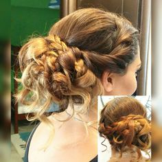 Curly Updo with braids.. A lovely choice for weddings and other occasions 👍👍💝