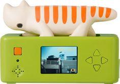 digital camera in a cat-shape from SuperHeadz.tokyo, designed by Lisa Larson Simple Geometric Designs, Swedish Style, Design Research, Photography Classes, Ceramic Artists, Scandinavian Design, Digital Camera, Storytelling, Pattern Design
