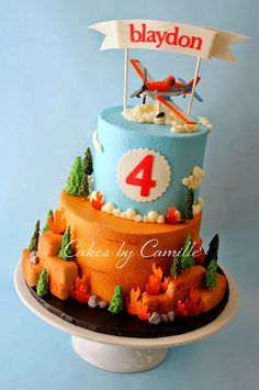 Cakes by Camille: Planes, Fire and Rescue Birthday Cake