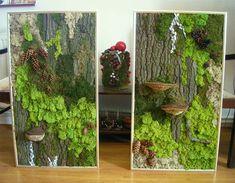 Moss / Lichens Wall Art Source by Moss Wall Art, Moss Art, Wall Art Decor, Plant Painting, Plant Art, Plant Decor, Graffiti En Mousse, Art Mural Vert, Green Wall Art
