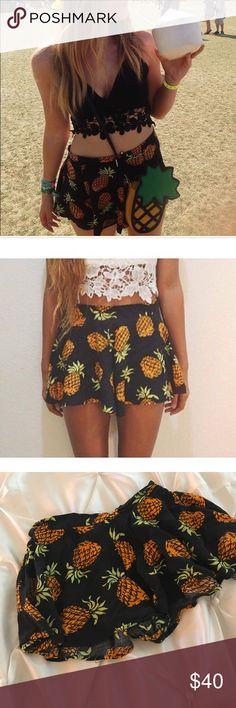 LF pineapple shorts size small LF pineapple shorts. great condition. size 8/small LF Shorts
