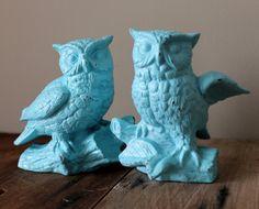 Owl Decor Figurines Vintage