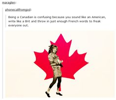 Canadian language was summed up perfectly. When Canadian language was summed up perfectly. Canadian Memes, Canadian Things, Canadian Humour, Tumblr Stuff, Funny Tumblr Posts, Funny Memes, Hilarious, Himym, How I Met Your Mother