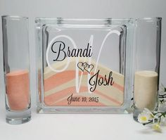 Unity Sand Ceremony Set with Lid - Background Monogram - Sand Included