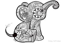 A Better Pic Of The Baby Elephant Doodle