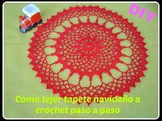 Como hacer tapete, carpeta a crochet parte 1/2 DIY - YouTube