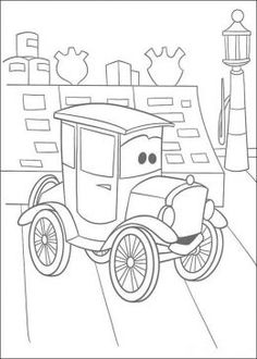 cars character coloring pages - photo#44