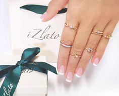 Nežné, elegantné, hravé, ligotavé aj dokonalé vo svojej jednoduchosti a éterickosti. ⚜️ iZlato ⚜️ má pre vás jedinečné kúsky prstienkov, ktoré priam oslavujú minimalizmus a ženskosť. 💋💄 Pretože každá z vás je jedinečná a zaslúži si svoj jedinečný šperk! Rings, Jewelry, Jewlery, Bijoux, Schmuck, Jewerly, Jewels, Jewelery, Ring