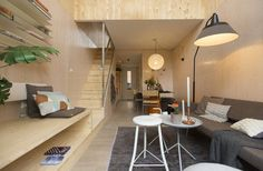 Heijmans ONE are prefab tiny houses designed for cities like Amsterdam. Heijmans is a Dutch construction company. They partnered with Mood Builders (architects). Together they came up with this pre…