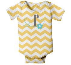 Baby Girl Chevron Onesie Personalized by SimplySublimeBaby on Etsy, $24.95
