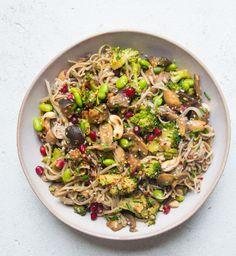 Sautéed Sesame and Aubergine Noodle Bowl | Deliciously Ella