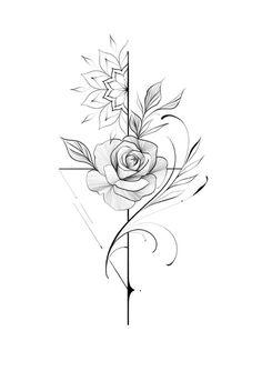 "Alessandro ""Pikeno"": O Fineline Ornamental do artista - Blog Tattoo2me Mommy Tattoos, Armbeugen Tattoos, Spine Tattoos, Rose Tattoos, Body Art Tattoos, Hand Tattoos, Small Tattoos, Girl Tattoos, Sleeve Tattoos"