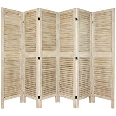 5 1/2 Ft. Tall Classic Venetian Room Divder Burnt White Six Panel, Width - 16.5 Inches 298