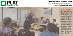 Autorex Peruana: Capacitación en Diesel en el diario Correo (15/05/16)