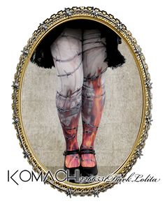 "【Tights no.6 Witch on Flames】   ✝ 100% made in JAPAN ✝    ""A corrupted witch engulfed in flames"" This design represents the execution of a witch sentenced by a witch trial. ✝ Fits PLUS and TALL sizes too! ✝ Buy it now at http://www.galaxybroadshop.com/products/detail.php?product_id=640"