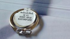 Vintage Eternity Karatclad 18k hge over by VINTAGEARTJEWELRY, $38.00