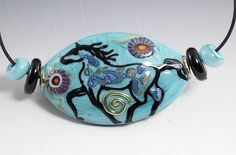 Wild Horse Lampwork Bead by patiwalton on Etsy, $89.00