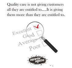 #CopywriterCollective #Qualitycare #Quote