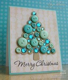 Идеи оформления новогодних открыток пуговичками - Море идей - рукоделие, декор дома, поделки и hand made.
