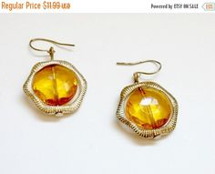 On Sale vintage yellow amber and gold mad by PlasticPinkFlamingos