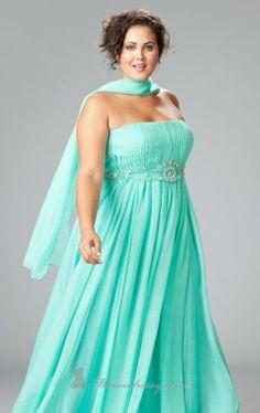 strapless floor length gown sydneys closet Sydneys Closet SC7045 Dress