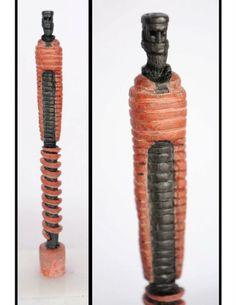 """""""SAY NO EVIL"""" sculpture on a pencil lead."""