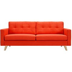 Dot & Bo Graham Sofa in Red ($899) ❤ liked on Polyvore featuring home, furniture, sofas, sofa, sitting, fabric furniture, upholstery furniture, fabric sofa, red couch and upholstered furniture