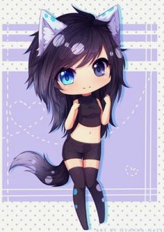 Commission - Shizuyo by Hyanna-Natsu on DeviantArt chibi neko girl Anime Neko, Manga Kawaii, Cute Anime Chibi, Kawaii Chibi, Manga Anime, Anime Art, Chibi Cat, Kawaii Cat, Otaku Anime