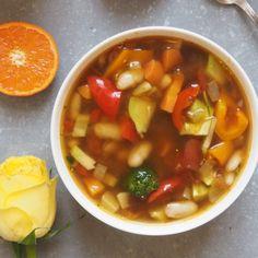 Brown Rice Pasta Minestrone Soup - Madeleine Shaw