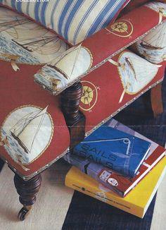 Sailing upholstery!