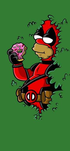 Deadpool homer, the simpsons Homer Simpson, O Simpson, Futurama, The Simpsons, Los Simsons, Simpson Wallpaper Iphone, Simpsons Characters, Graffiti Drawing, American Dad