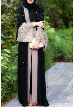 Fashion Arabic Style   Illustration   Description   Hijab Fashion 2016/2017: Anna Hariri: Lulu Lace Abaya    – Read More –