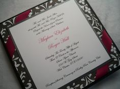 Black and White Damask 4 layer Wedding by InvitationsbyJill