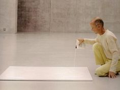 "#ART | Wolfgang Laib | ""Milkstone"" every day ritual"