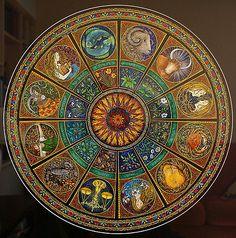 Zodiac Mandala by Tricia Newell Zodiac Art, Astrology Zodiac, Zodiac Signs, Yen Yang, Zodiac Wheel, Creation Art, Mystique, Fractal Art, Mandala Art