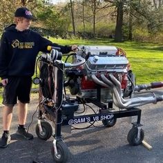 """Edelbrock U S A on Instagram: """"Rock that stand, Sam! We introduced this 15-year-old engine builder recently with a Pro-Flo 4 XT EFI 555 engine that he built for a…"""" 15 Years, Year Old, Baby Strollers, Engineering, Garage, Rock, Building, Shopping, Instagram"""
